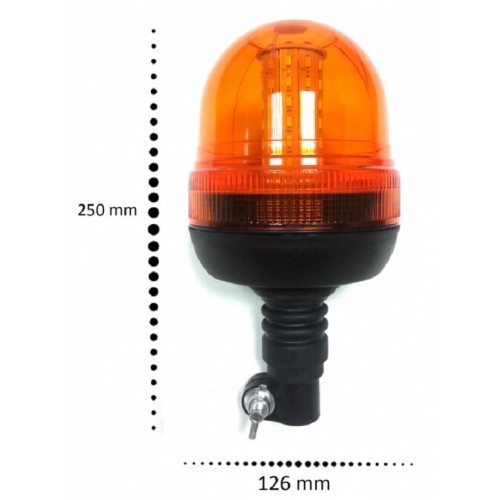 SHOPBATTERY LED Φάρος Πορτοκαλί Διάφανος 12V 24V Γρήγορη Σύνδεση