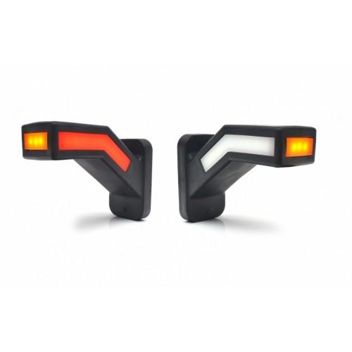 LED Neon Σετ Τριπλά Πλευρικά Φώτα Е-Mark 14.6см Κόκκινα-Λευκά-Κίτρινα 12V και 24V