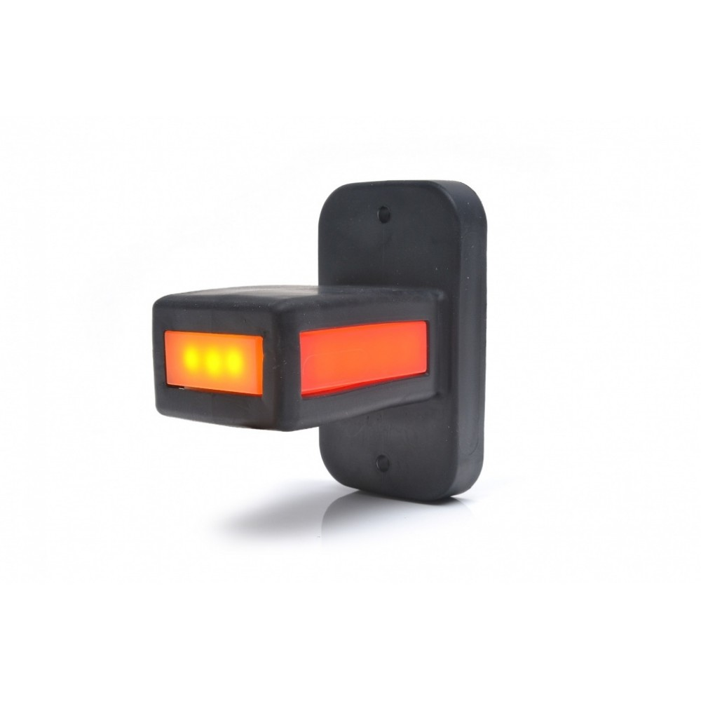 LED Neon Τριπλά Πλευρικά Φώτα Е-Mark 8.7см Κόκκινα-Λευκά-Κίτρινα 12V και 24V 1 Τεμάχιο