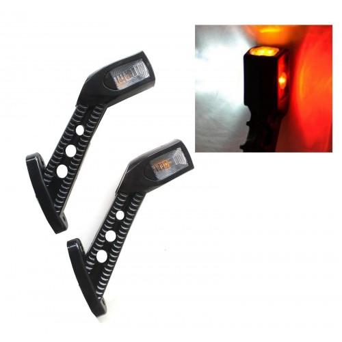 Σετ 2 Τεμαχίων Τριπλά πλευρικά φώτα θέσης 4 LED 12V-24V κερατάκια
