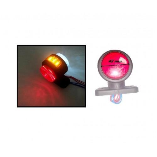 Σέτ 2 Τεμαχίων LED Όγκου Ωμέγα Τριπλά Κερατάκια 12V-24V IP66 Κόκκινό-Λευκό-Κίτρινο