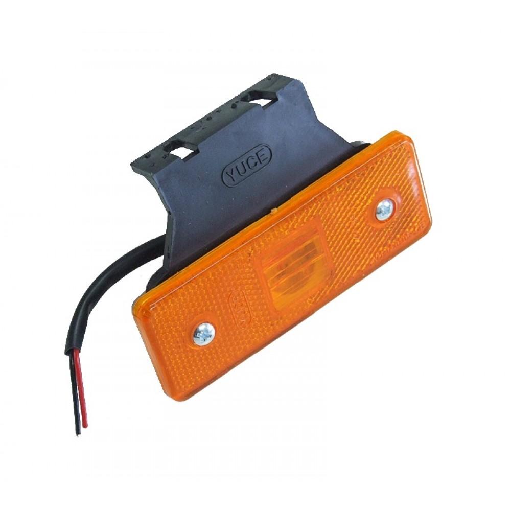 LED Φωτιστικό Όγκου Πλευρικής Σήμανσης με Βάση 24V Πορτοκαλί 1Τεμάχιο