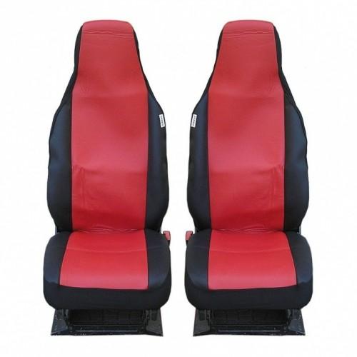 SHOPBATTERY Καλύμματα Υφασμάτινα Για Μπροστινά Καθίσματα Toyota Aygo Citroen C1 Peugeot 107 2 Τεμάχια σε Κόκκινο