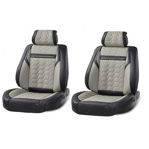 SHOPBATTERY Καλύμματα Αυτοκινήτου Δερμάτινη Ταπετσαρία Για Μπροστινά Καθίσματα 2 Τεμάχια-TAP801.SB
