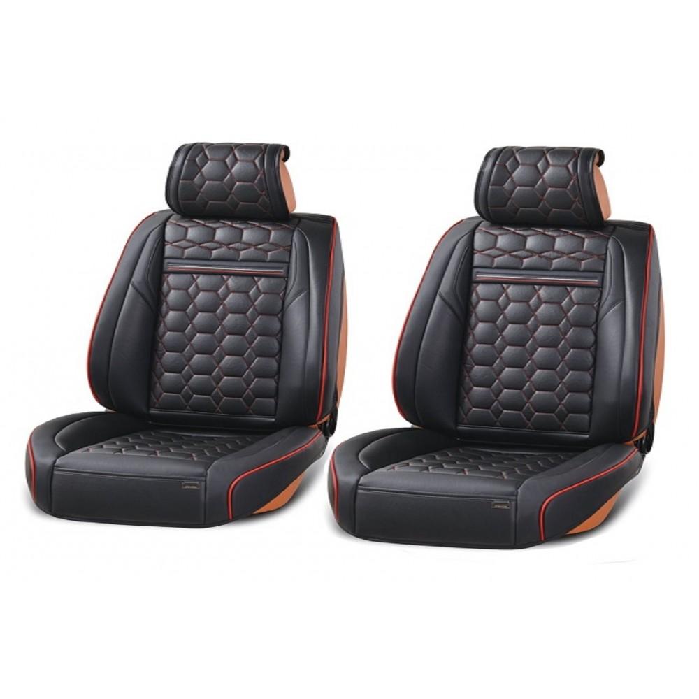 SHOPBATTERY Καλύμματα Δερμάτινη Ταπετσαρία Για Μπροστινά Καθίσματα 2 Τεμάχια-TAP800.SB
